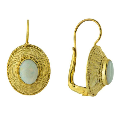 Greco-Roman Opal Earrings