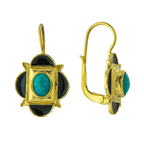 Jacques Cartier Turquoise Earrings