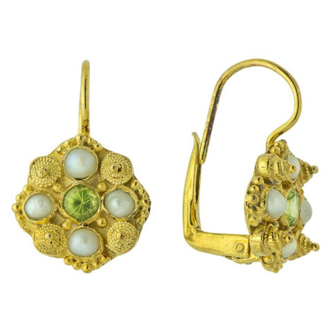 Ann Radcliffe Peridot Earrings