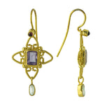 Anabelle Amethyst and Cultured Pearl Earrings