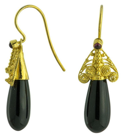 Drury Lane Onyx Earrings a masterpiece in sterling silver jewelry