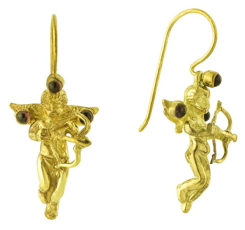 Cupid Garnet Earrings
