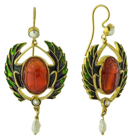 Alexandria Scarab Earrings