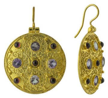 Ravenna Amethyst and Garnet Earrings