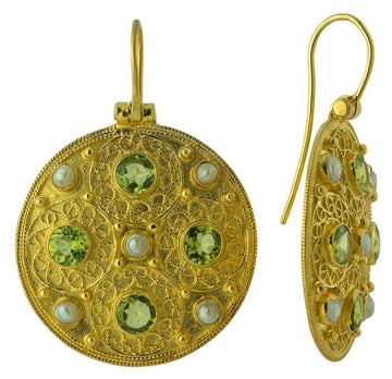 Ravenna Peridot and Pearl Earrings