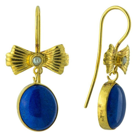 Lapis Bow Earrings