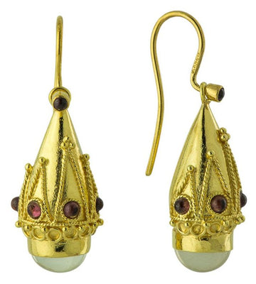 Princess Sophia Moonstone Screw-Back Earrings