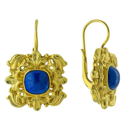 Catherine Of Aragon Lapis Lazuli Earrings