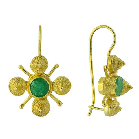 Virginia Woolf Emerald Earrings