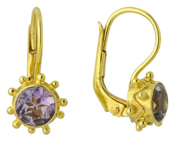 Maid Marian Amethyst Earrings