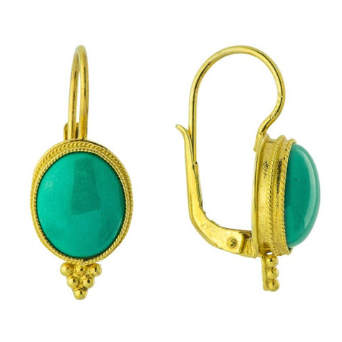 Turquoise Rendezvous Roman Earrings