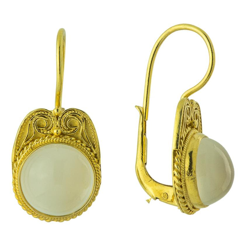 Venus De Milo Roman Earrings with Moonstone