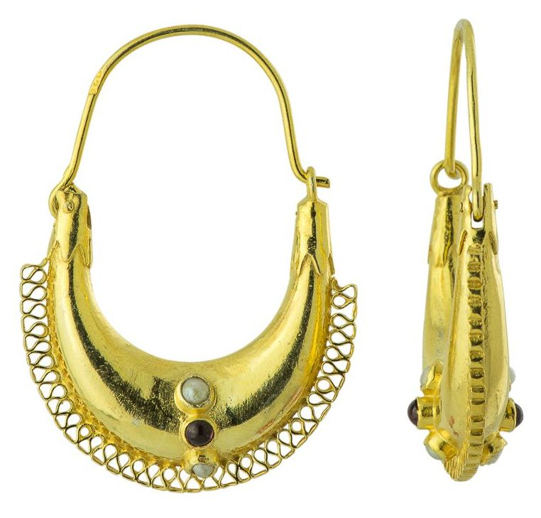 Caspian Boat Roman Earrings