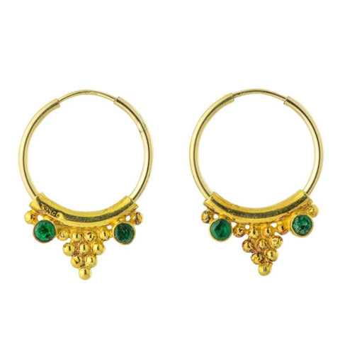 Emerald Palazzo Madama Earrings