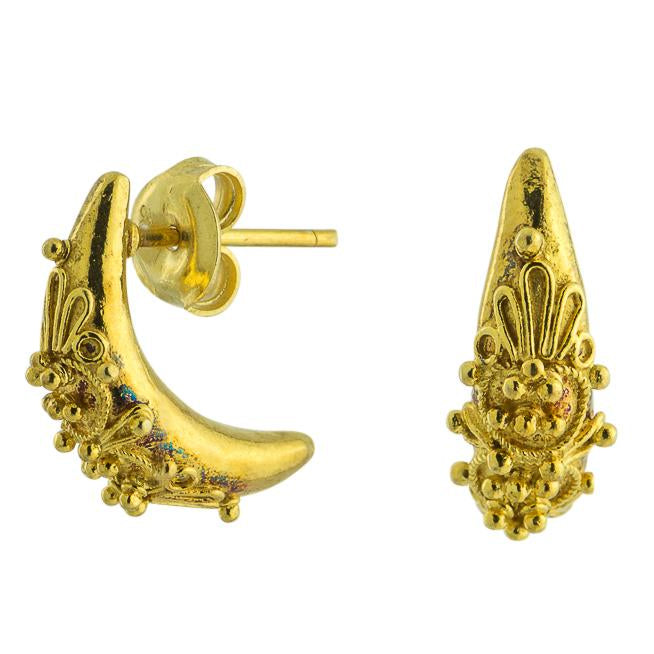 Diana Crescent 14k Gold Earrings