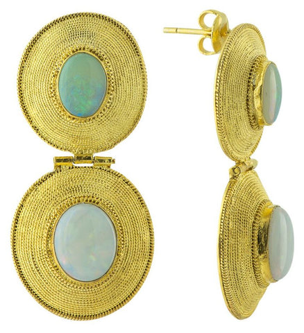 Tiered Empire Opal Earrings