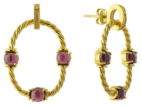 Drury Lane Garnet Earrings