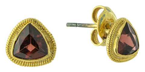 Emma Garnet Stud Earrings