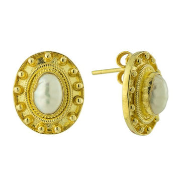 Etruscan Pearl Earrings