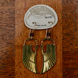 Vintage Laurel Burch Isis Wing Earrings