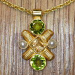Jenny Lind Peridot, Citrine & Pearl Necklace