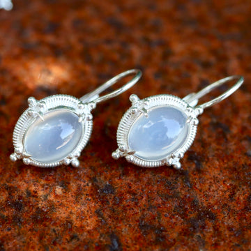 Narcissus Moonstone Silver Earrings