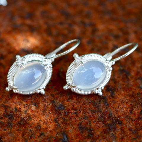 Narcissus Moonstone Earrings