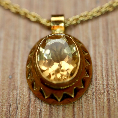 Lady Jane Citrine Necklace