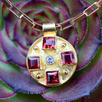St. Albans Garnet and Cubic Zirconia Necklace