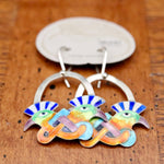 Vintage Laurel Burch Mohawk Bird Earrings