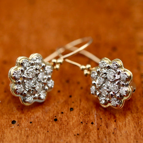 Rafaela Diamond Rosette Earrings