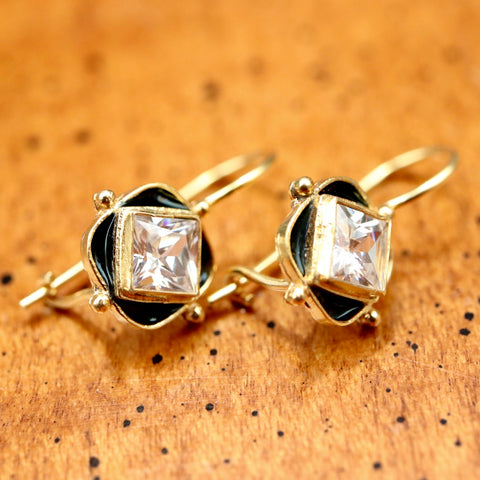 Black Forest Cubic Zirconia Earrings