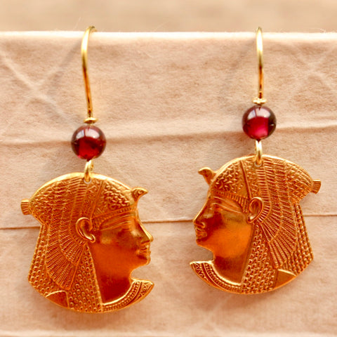 Pharaoh Garnet Earrings