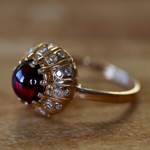 Clara Schumann Garnet & Diamond Ring