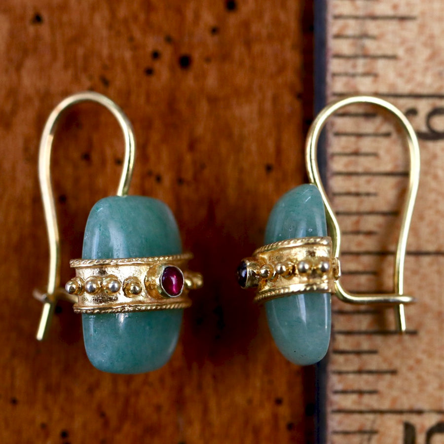 Russian Royal Aventurine Earrings