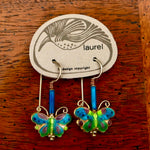Vintage Laurel Burch Butterfly Earrings