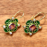Mary Queen of Scots Earrings - Green