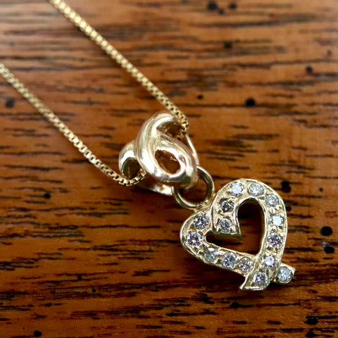 Diamond Love Knot Necklace