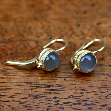 Meg Pepperidge Grey Moonstone Earrings