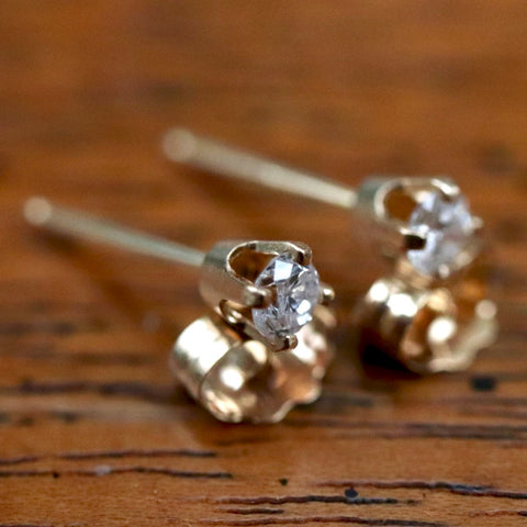 14k Diamond Sparkle Earrings (0.15 carats)