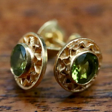 Openwork Peridot Stud Earrings