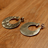 Silver Slug Earrings