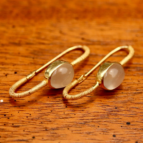 Moonstone Mirror Earrings