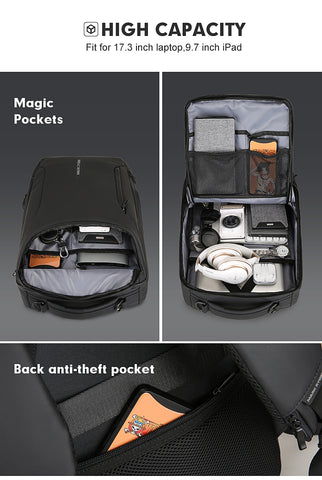 HTB1FM8QSkvoK1RjSZFNq6AxMVXaD large - Mark Ryden 2019 New Anti-thief Fashion Men Backpack Multifunctional Waterproof 15.6 inch Laptop Bag Man USB Charging Travel Bag