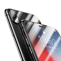 Baseus Front Screen Protector + Back Tempered Glass For iPhone Xs Xs Max XR 2018 Protective Glass 9H Thin Full Coverage Glass