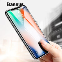 Baseus Screen Protector For iPhone X Tempered Glass Ultra Thin Anti Blue Light Full Screen Front Cover For iPhone X Glass Film