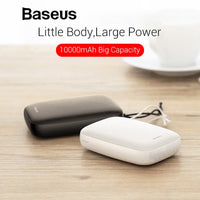 Baseus 10000mAh Mini Power Bank For iPhone Samsung Huawei Xiaomi Powerbank Portable USB Charging Power Bank External Battery