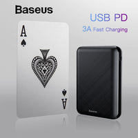 Baseus 10000mAh USB PD 3A Fast Charging Power Bank For iPhone Xs Xs Max USB Charging Powerbank For Samasung Xiaomi Huawei Bank