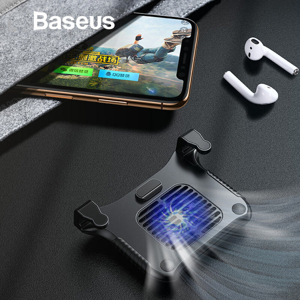 Baseus Mobile Phone Radiator Cooler Fan for iPhone Heat Sink Mobile Phone Game Shooter Controller Gaming Trigger for Andriod IOS
