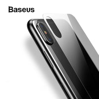 Baseus 0.3mm Back Tempered Glass For iPhone Xs Ultra Thin Transparent Protective Glass For iPhone Xs Max 2018 Back Film Cover